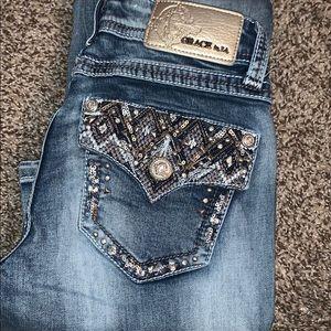 Grace embedded jeans /bootcut